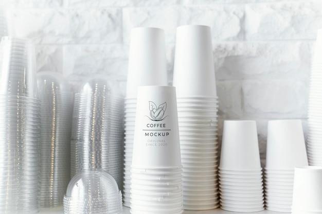커피 컵 모형 배치