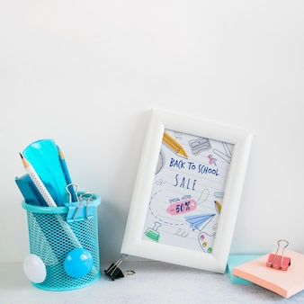 Arrangement with back to school sale and frame