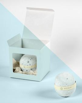 Arrangement with bath bomb in box Premium Psd