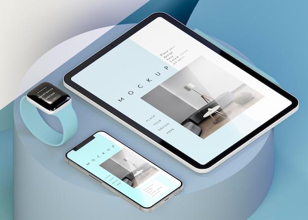 Компоновка с макетом современных устройств