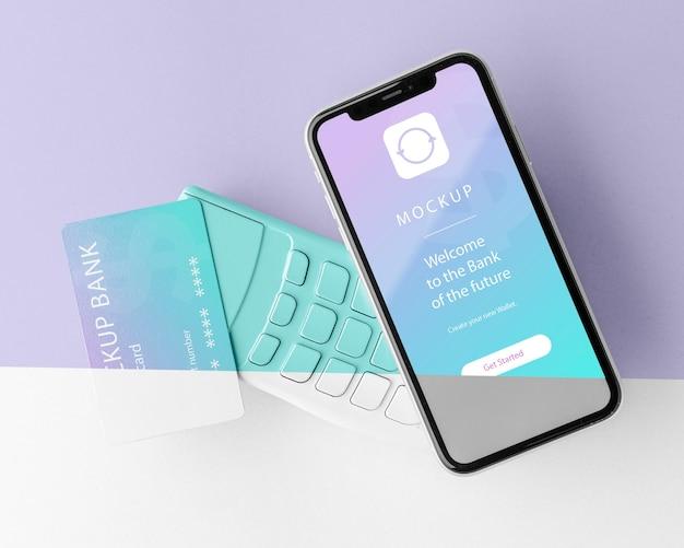 スマートフォン決済アプリのモックアップとのアレンジ