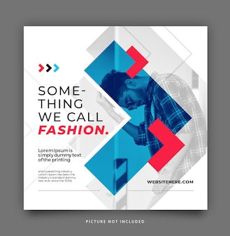 Arrow duotone social media instagram template