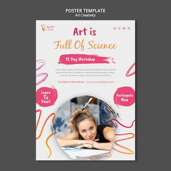 Шаблон плаката искусства и творчества