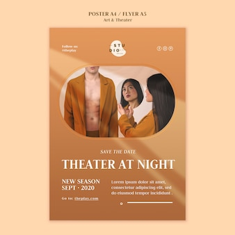 예술과 연극 템플릿 포스터