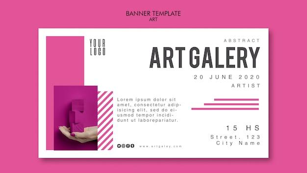 Art concept banner template