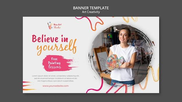 Art and creativity banner template