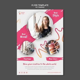 Art and creativity flyer design template