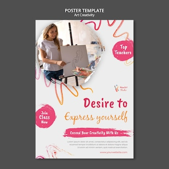 Art and creativity poster template