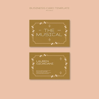 Art deco musical business card