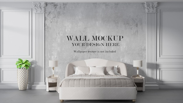 Art deco style bedroom wall mockup