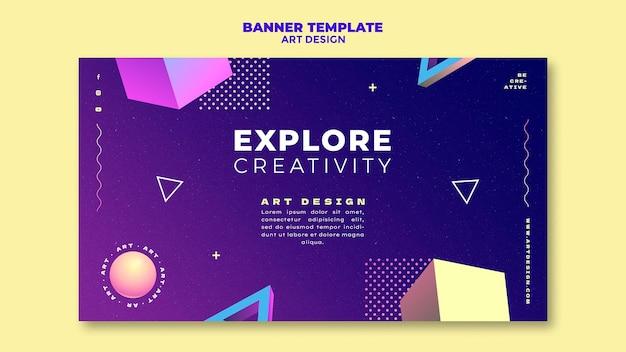 アートデザインバナーテンプレート