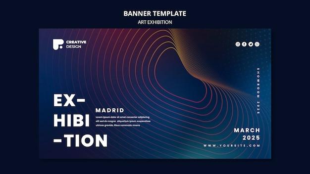 Art exhibition banner template