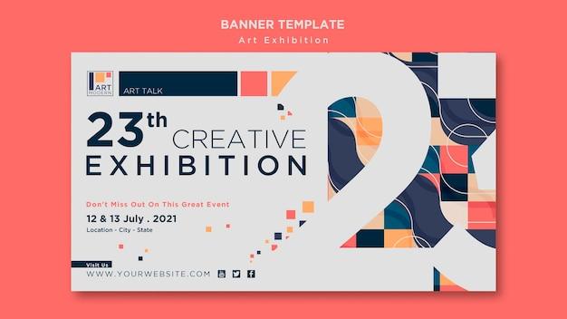 Art exhibition concept banner template