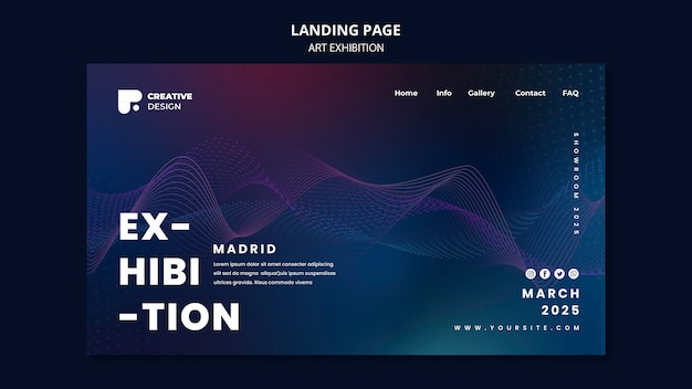 Art exhibition landing page template