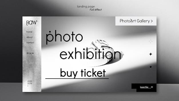 Pagina di destinazione della mostra d'arte