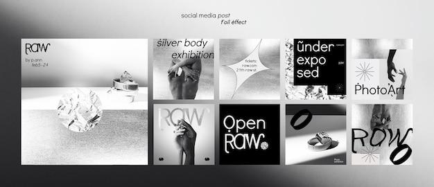 Art exhibition social media posts