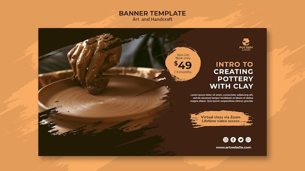Art and hand craft banner template