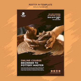 Art and hand craft poster template