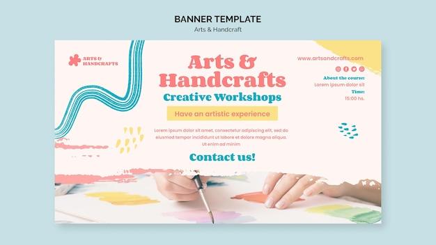 Art and handcraft banner template