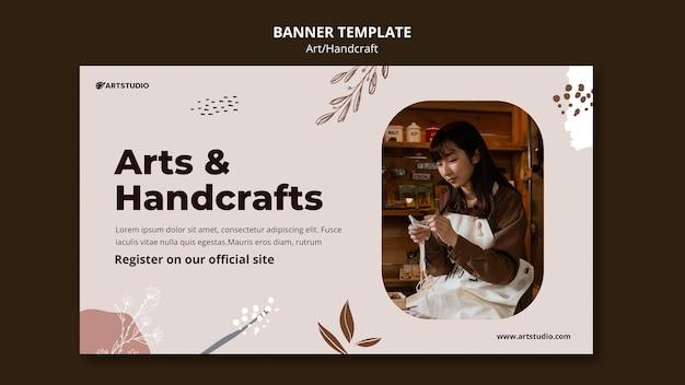 Modello di banner per arte e artigianato