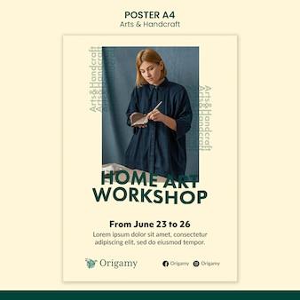 Art and handcraft poster design template