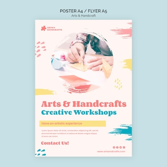 Art and handcraft poster template