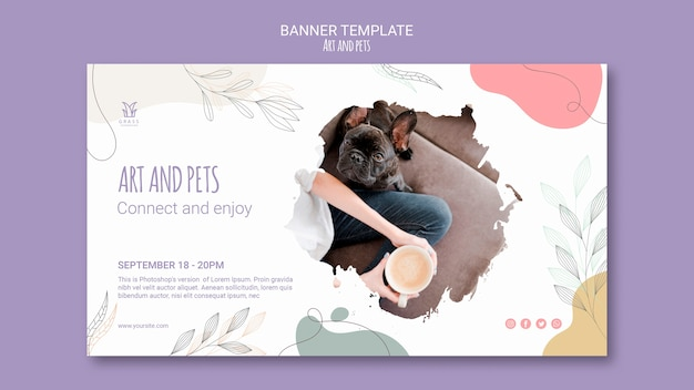 Art and pet banner template