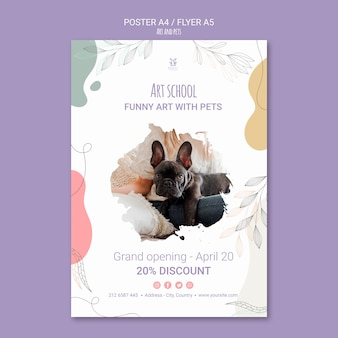 Art and pet flyer template theme