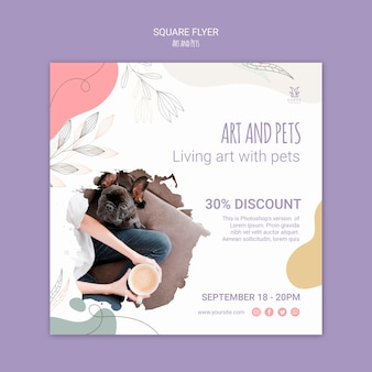 Art and pet flyer template