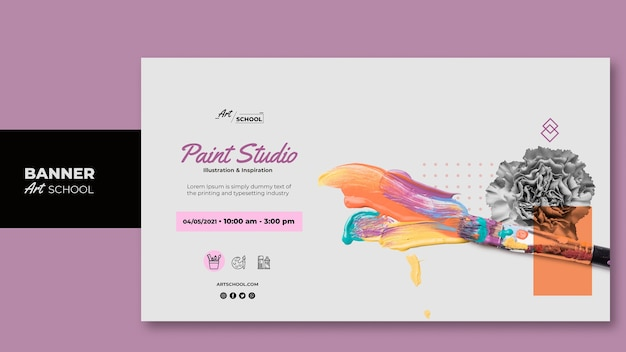 Art school banner template