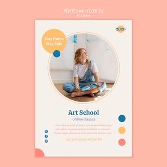 Art school poster template