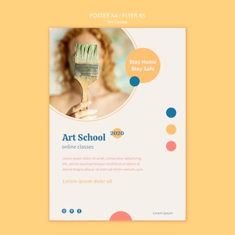 Art school poster template