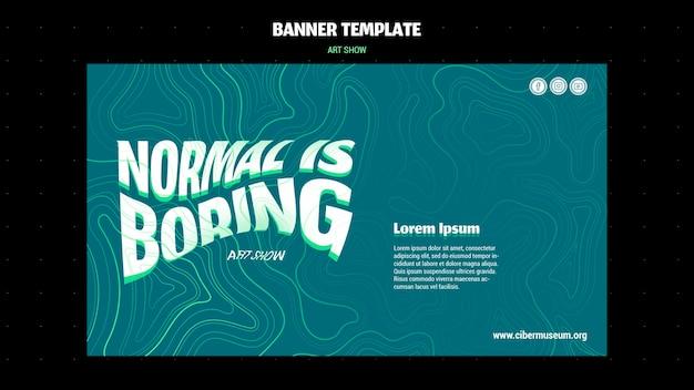 Art show banner template