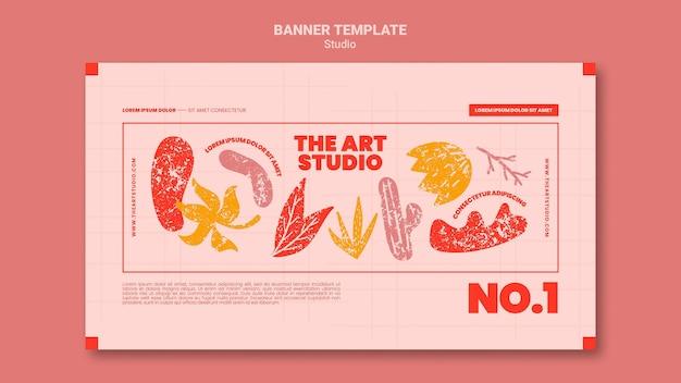 Il modello di banner dello studio d'arte