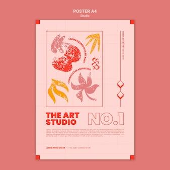 Il modello di stampa dello studio d'arte