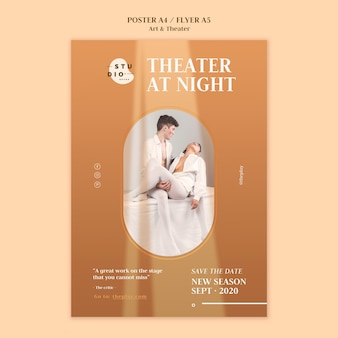 Art and theater poster template