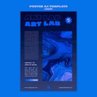 Modello di poster onda d'arte