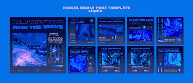 Art wave 소셜 미디어 게시물