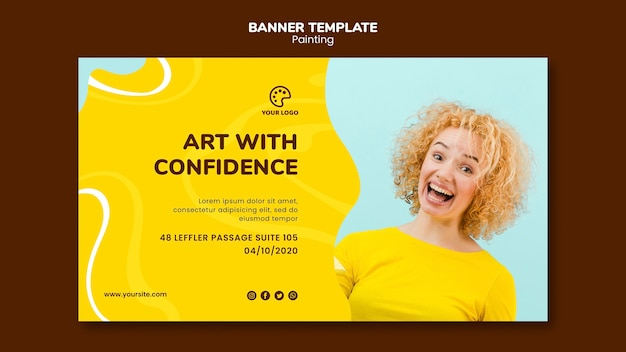 Art with confidence painting template