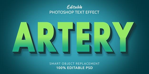 Эффект стиля текста для редактирования артерий