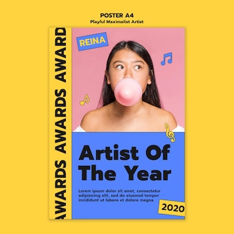 Artist awards poster template