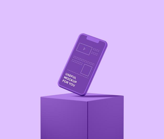 芸術的な3dスマートフォンモックアップ