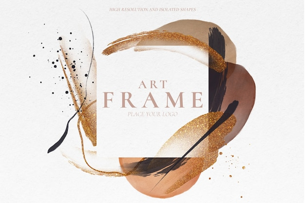 Artistic frame with elegant painted shapes