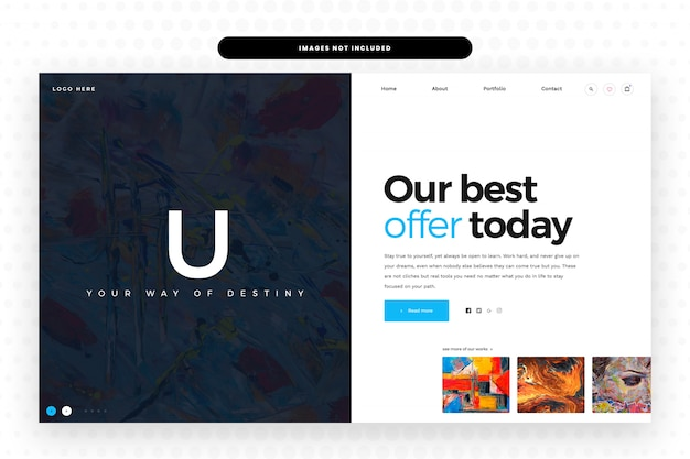 Artistic website template,