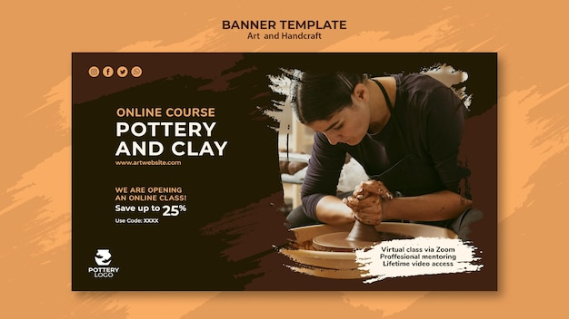 Arts and hand craft banner template
