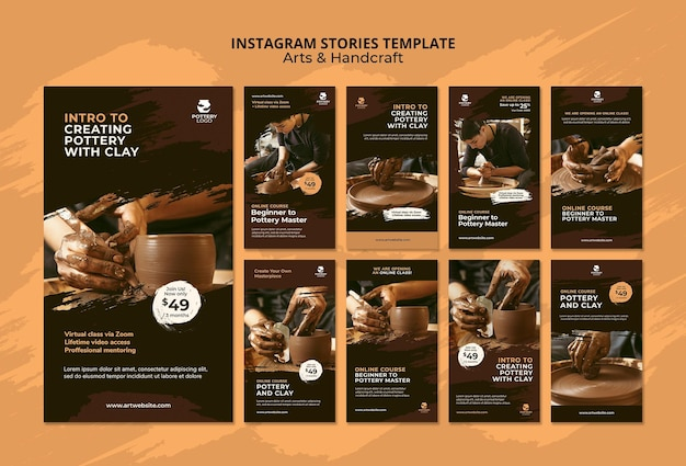 Arts and hand craft instagram stories