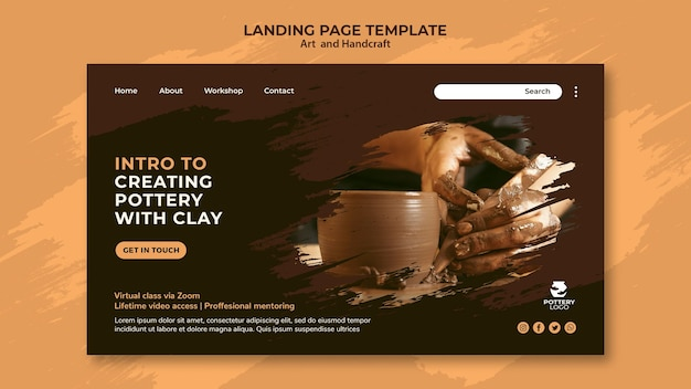Arts and hand craft landing page