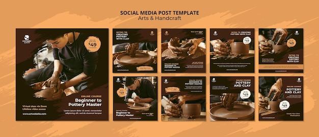 Arts and hand craft social media post
