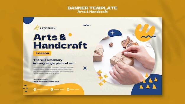 Arts and handcraft banner design template