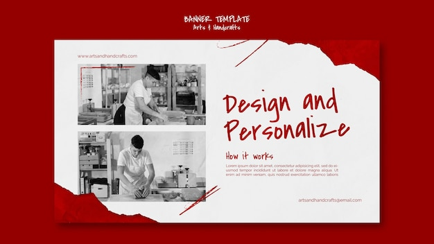 Arts and handcraft banner template